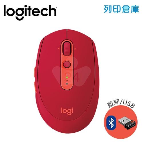 Logitech 羅技 M585多工藍芽無線滑鼠-寶石紅(藍芽/USB)