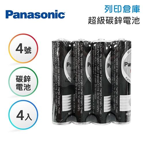 Panasonic國際 4號 碳鋅電池4入