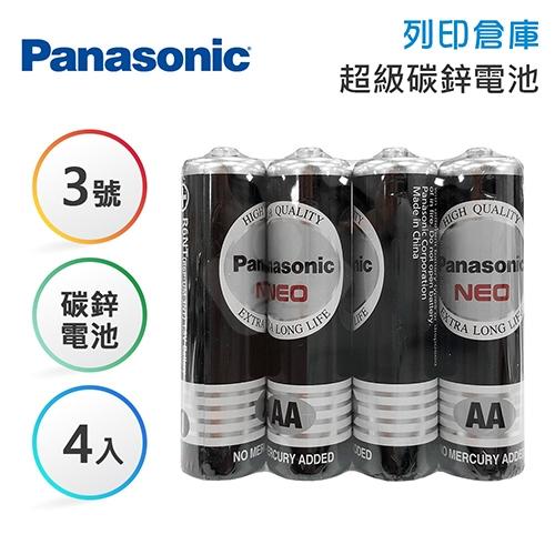 Panasonic國際 3號 碳鋅電池4入