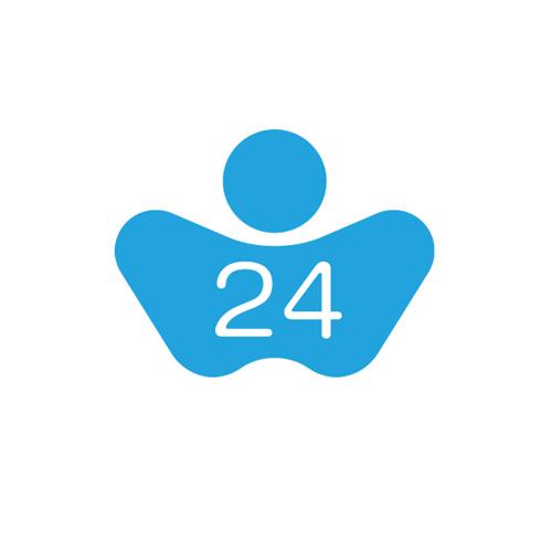 【COLOR 24】for Brother TZ-355 / TZE-355 黑底白字相容特殊護貝標籤帶(寬度24mm)