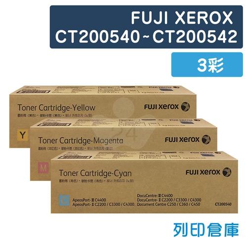 【平行輸入】Fuji Xerox CT200540/CT200541/CT200542 影印機碳粉超值組 (3彩)