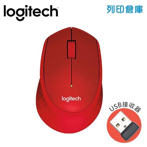 Logitech 羅技 M331無線靜音滑鼠-紅(USB接收器)