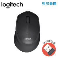 Logitech 羅技 M331無線靜音滑鼠-黑(USB接收器)