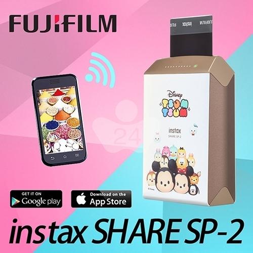 FUJIFILM instax SHARE SP-2印相機 (迪士尼卡通禮盒組) Tsum Tsum 金色