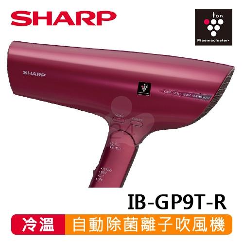 【SHARP 夏普】自動除菌離子吹風機(優雅紅) IB-GP9T-R