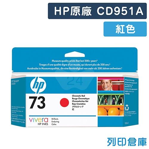 HP CD951A (NO.73) 原廠 Chromatic 紅色墨水匣