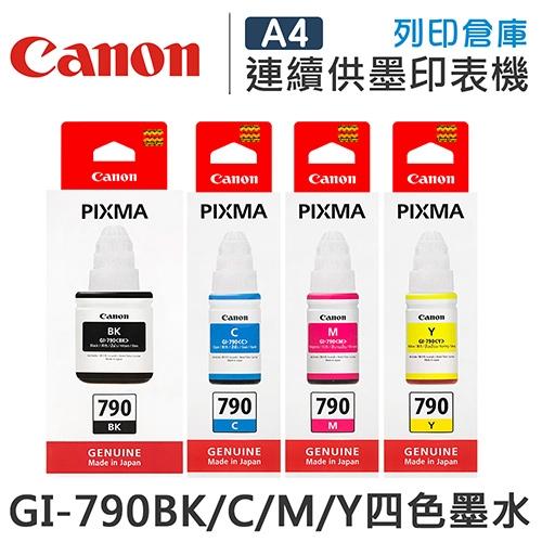 CANON GI-790BK/C/M/Y 原廠盒裝墨水組(4色)