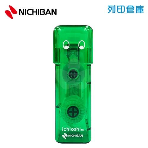 【日本文具】NICHIBAN Tenori Ichioshi TN-TEIG 蓋壓式 印章點點雙面膠立可帶- 綠色