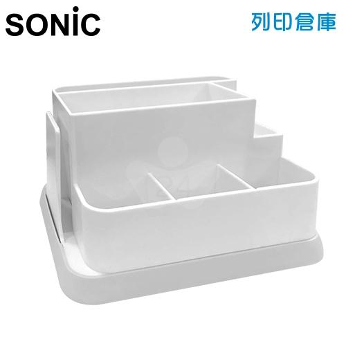 【日本文具】Sonic 桌上收納筆筒 LV-8280-I 白色 (個)