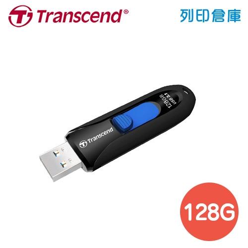 創見 Transcend USB3.1 無蓋伸縮碟系列 JetFlash790 / 128GB 隨身碟 黑色