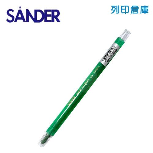SANDER 聖得 B-1708 深綠色 旋轉蠟筆 (素面) 1支