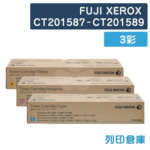 【平行輸入】Fuji Xerox CT201587~CT201589 影印機碳粉超值組 (3彩)