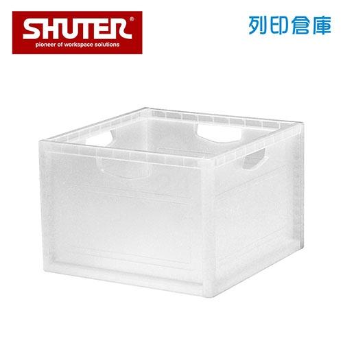 SHUTER 樹德 KD-2638 扶手孔巧拼收納箱 透明色 (個)
